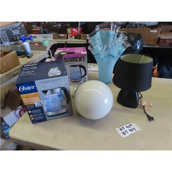 Blown Glass & Vase , Lamp Plus