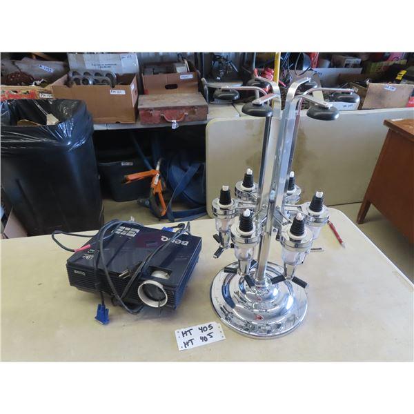 (HT) Benq Projector & 6 Bottle Booze Jigger