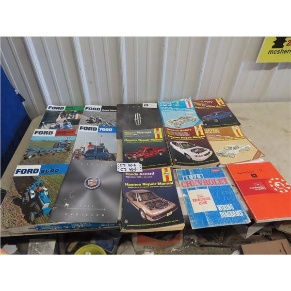 15 Ford Tractor Brochures, Haynes Repair Manuals Plus More!