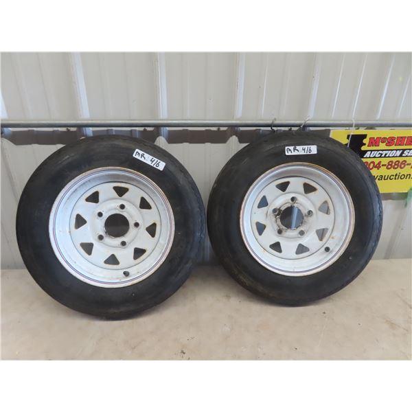 2 Trailer Tires & rims 5.30- 12
