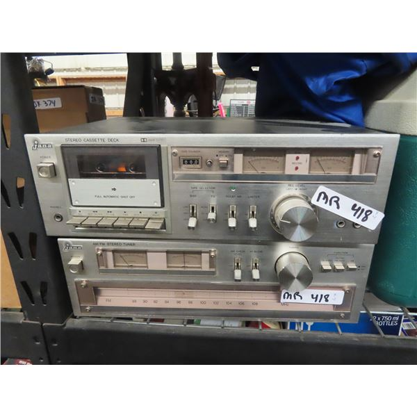 Stereo Equip- Jana AM/FM Stereo Tuner, Jana Stereo Cassette Deck , Jana Integrated Stereo Amplifier,