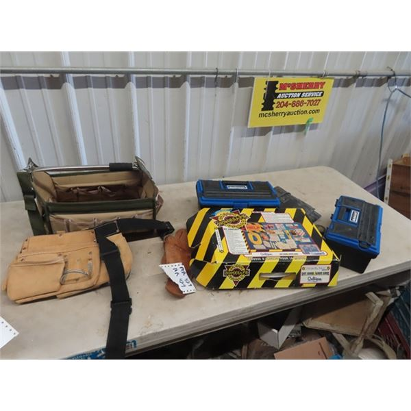 New Carpenters Belt , Tool Box, Safety Home Emergency Kit