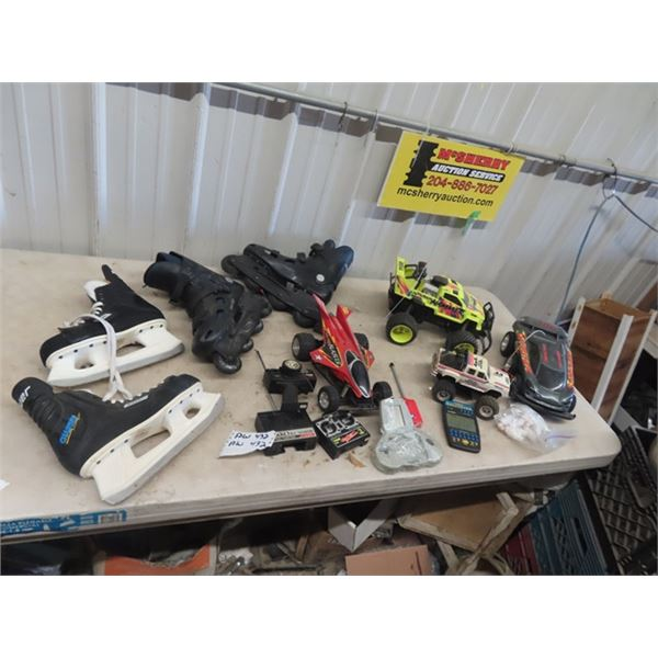 Remote Control Toy Cars, Hand Video Game, Roller Skates, Bauer Hockey Skates - Size 8