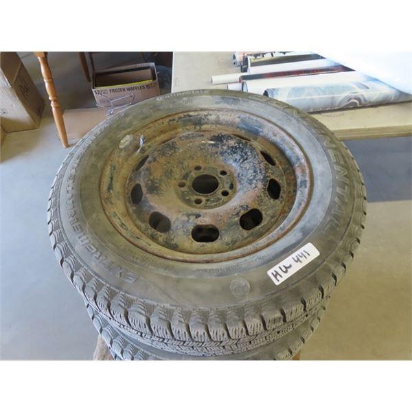 (HU) 4 Tires & Rims 195/65R 15