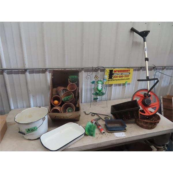 Measuring WHeel, Enamelware, Planters Plus
