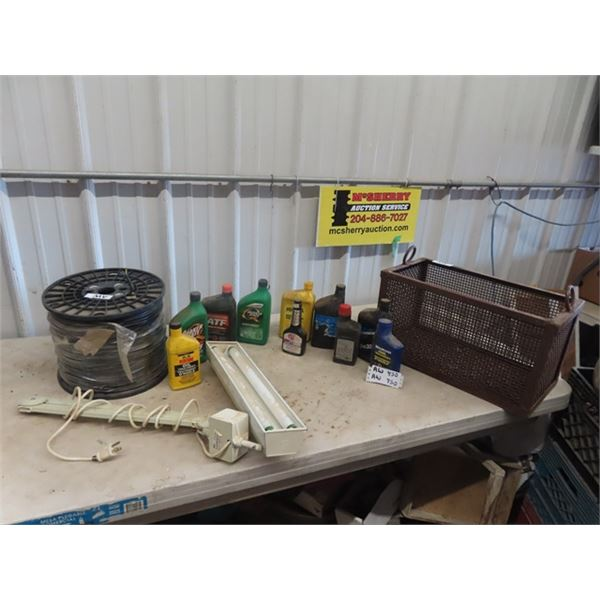 Parts Dip Cage, Oils, Lubes- 50% to Full, Flex Lights, Full Roll Wire