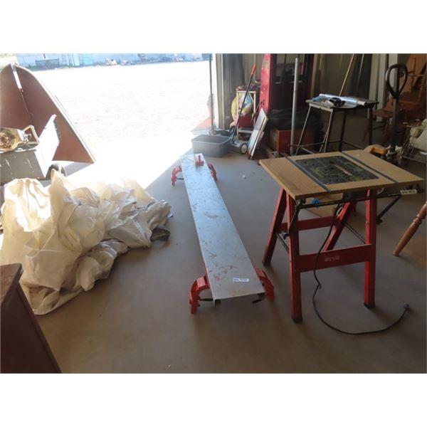 (HU) Scaffolding - Circ Saw, Table Saw Stand, & Fertilizer Bags