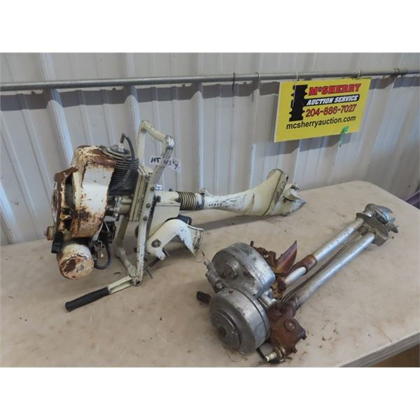 (HT) 2 Outboard Motors- 1) Evinrude 1) Made in USA Vintage