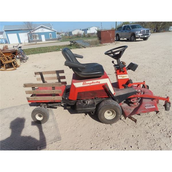 SImplicity 12 HP Hysdrostatic Front Mount Mower Has Ground Wire Issue - WIll Run if Fixed or Disconn