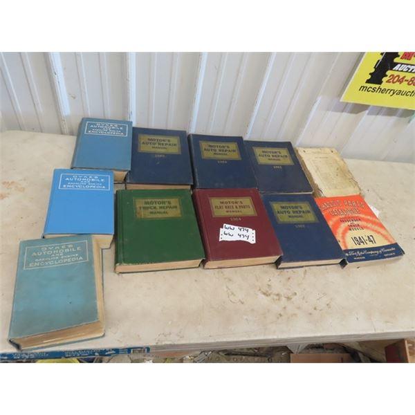 1960's Auto Motor Manuals, Dycks Auto Encylcopedia 41-47 Catalogue