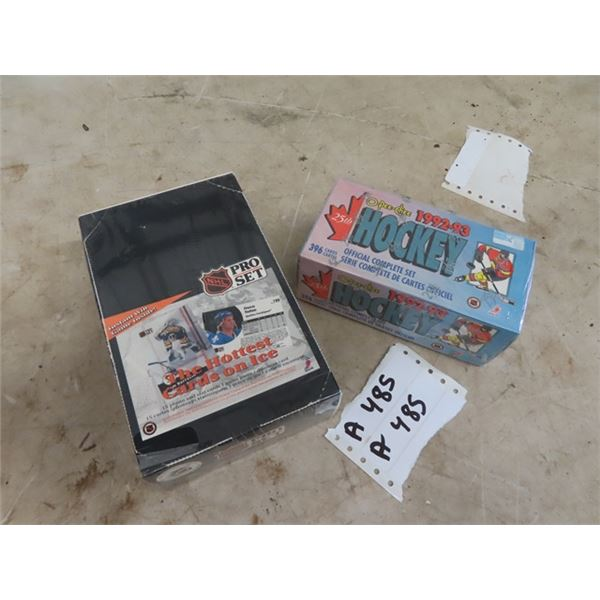 Hockey Cards- Factory Sealed, Pro Set & Factory Sealed O - PEE- CHEE- 1992-1993