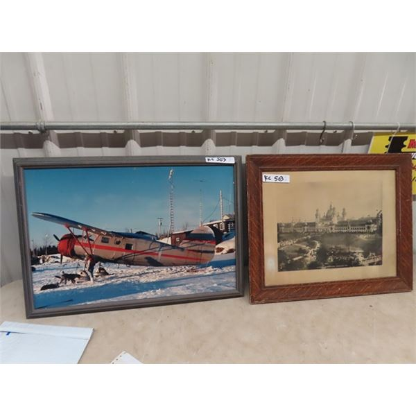 2 Items 1- Picture of Plane , & Picture of Glasgow International Exhibition 1901