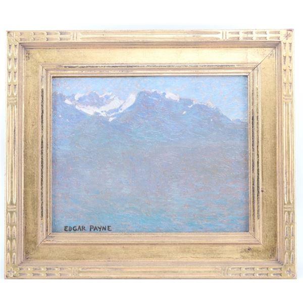 Edgar Alwin Payne (1883-1947) In the Misty Alps