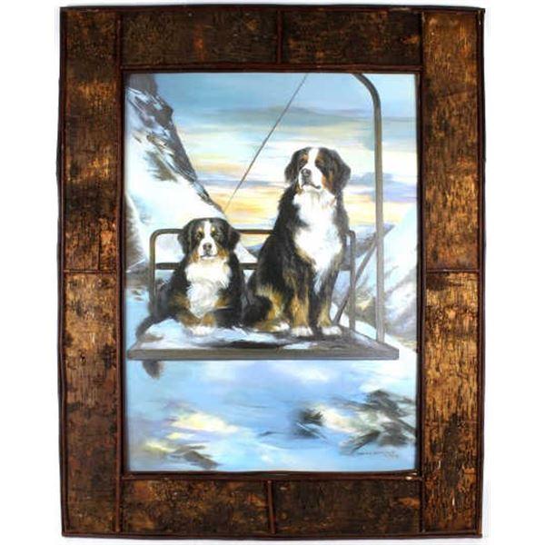 M. Dwyer-Mason Bernese Mountain Dog Ski Patrol Art