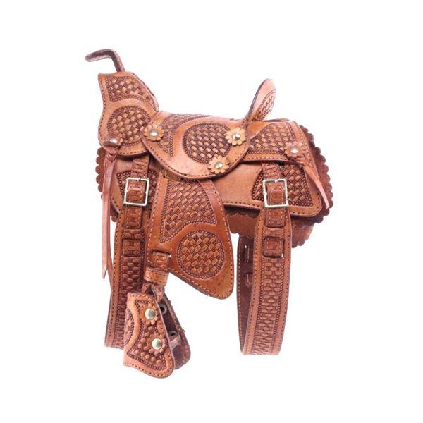 Pugsley & Cia. Tooled Salesman Sample Saddle 1950