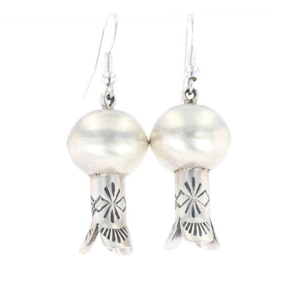 Navajo Chris Hale Sterling Silver Blossom Earrings
