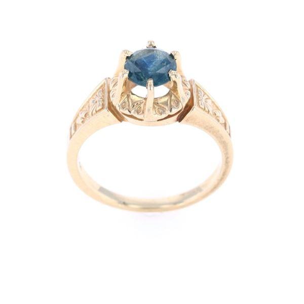 Estate Montana Gem Mountain Sapphire 14k Gold Ring