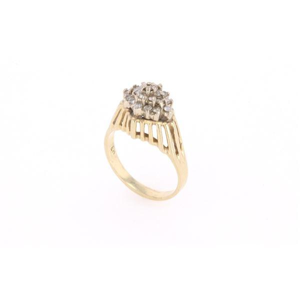Vintage Estate Brilliant Diamond 14k Gold Ring