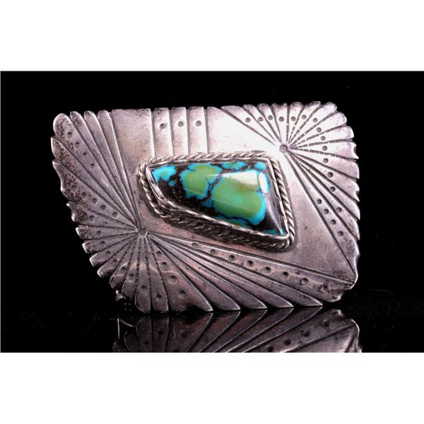Navajo Orville Jack Turquoise Buckle by R. Morton