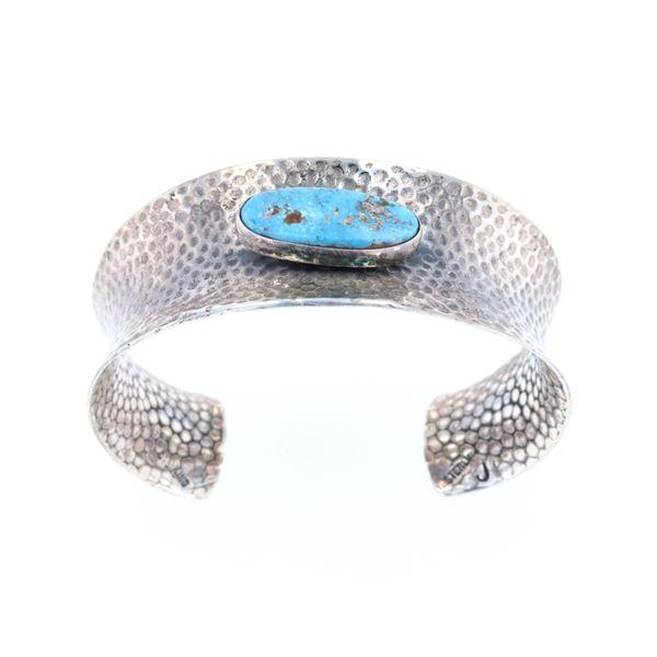 Navajo Harold Joe Silver & Turquoise Bracelet