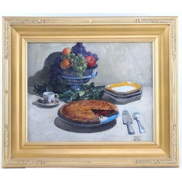 Original Robert Wesley Amick 1879-1969 Cherry Pie