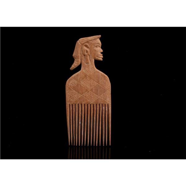 Asante Ghana Africa Duafe Figural Comb