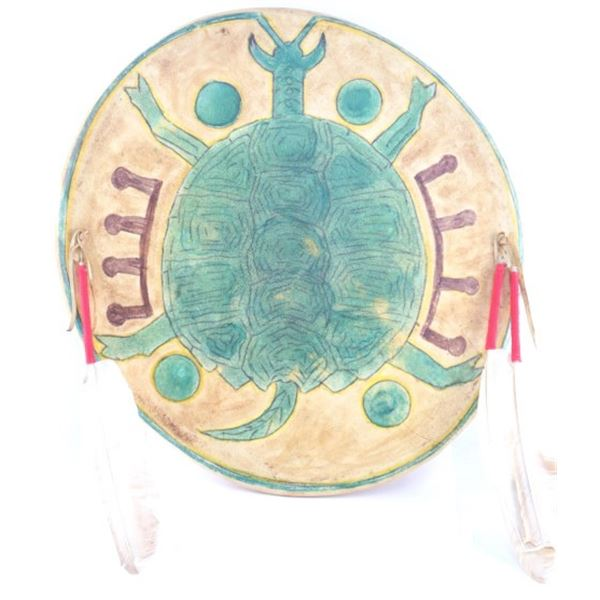 Southern Cheyenne Turtle Clan War Shield 20th C.
