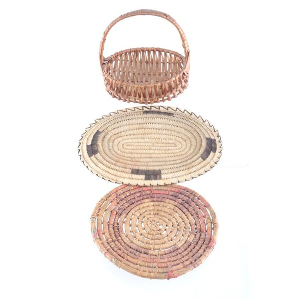 Pima Seminole & Salish Tribe Baskets c. 1950's
