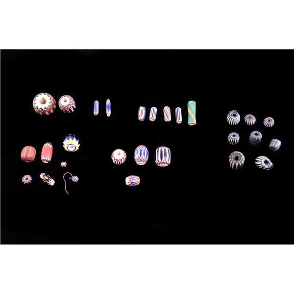 Unique Color & Style Venetian Chevron Beads