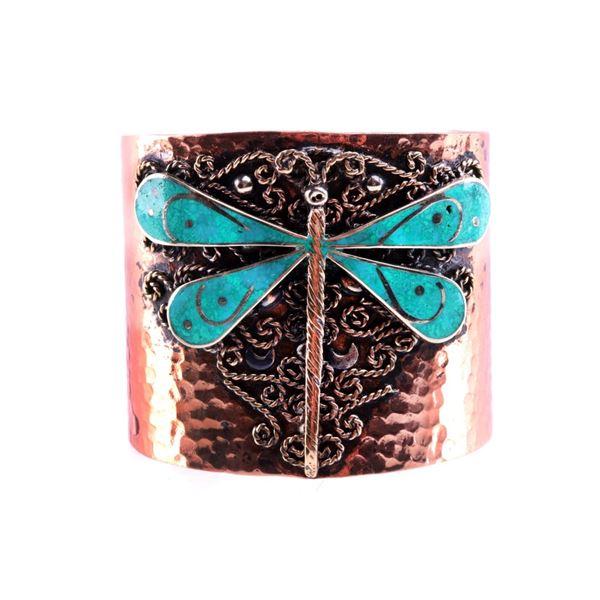 Armand American Horse Silver Copper Dragonfly Cuff