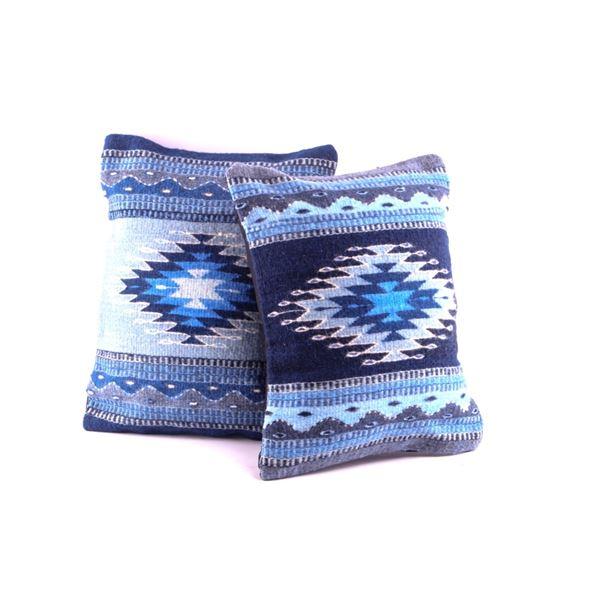 Sol de la Zapoteca Wool Pillow Set by A. Gutierrez
