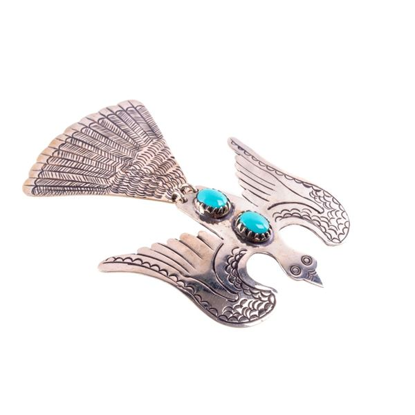 Armand American Horse Silver Water Bird Pin