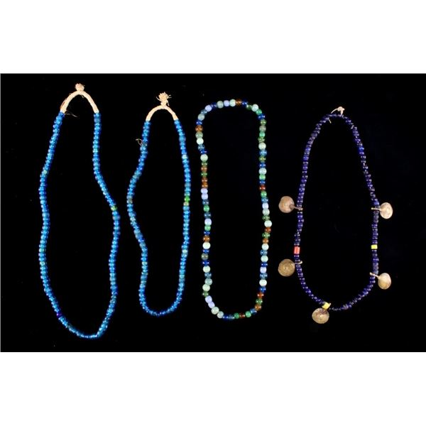 """Venetian Clear """"Padre"""" Trade Beads Necklaces"""