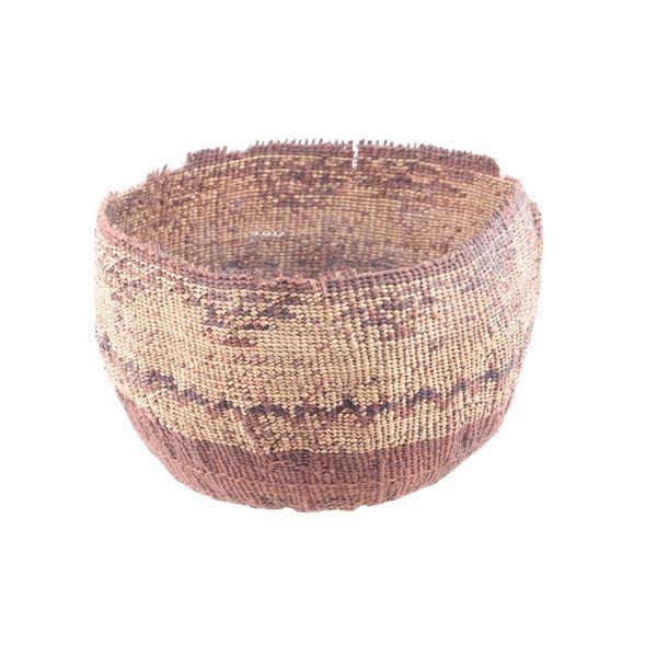 Yurok Indian Pine Needle Hand Woven Basket