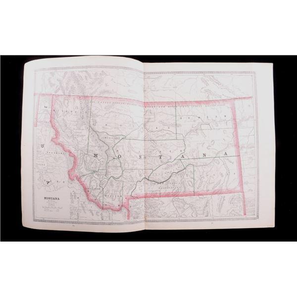 1880's Montana Idaho & Wyoming Map