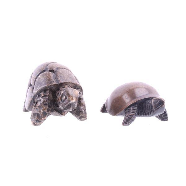 South African Steatite Tortoise & Turtle Pair