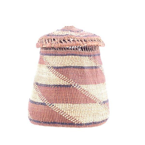 Pacific Coastal Yurok Pine Needle Woven Basket