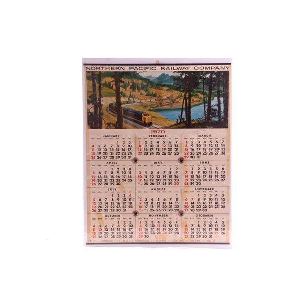 Northern Pacific Railway Co.1970 Wall Calendar