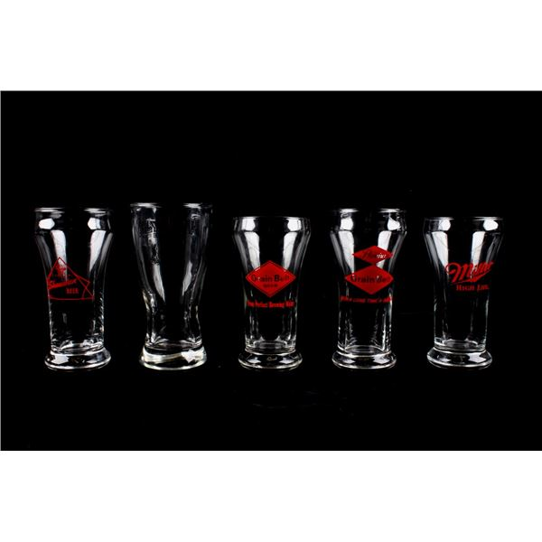 Grain Bell Beer, Olympia, etc. Ad Drinking Glasses