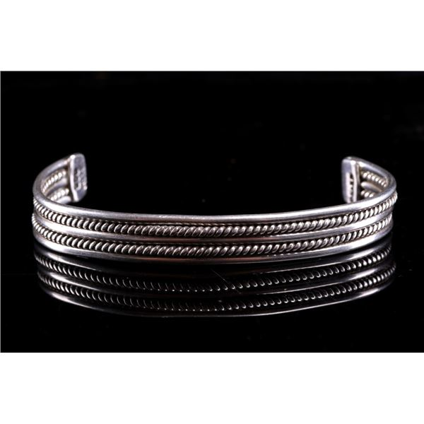 Taxco Mexico Sterling Silver Twisted Rope Bracelet