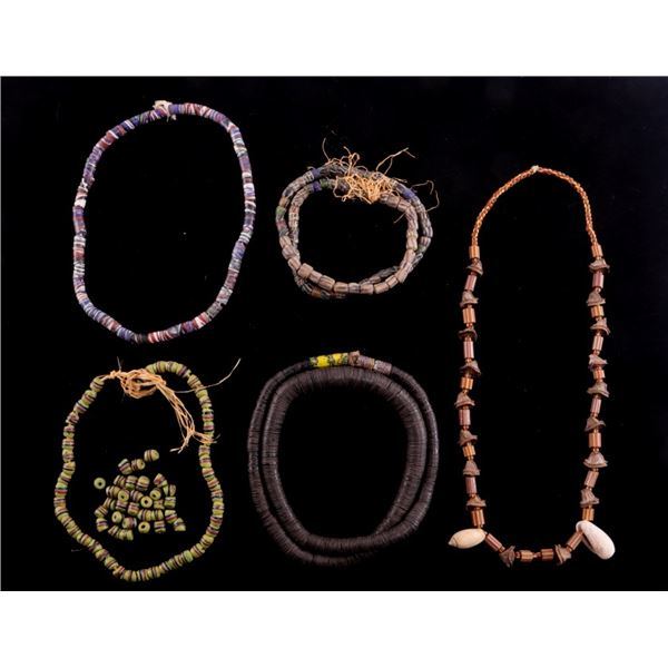 African Tribal Trade Bead Necklaces (5)
