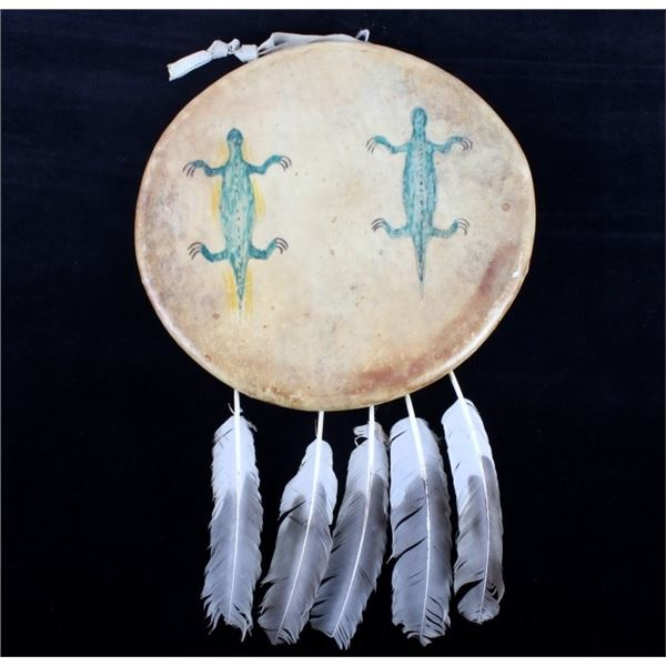 Southern Plains Indian Polychrome Painted Shield