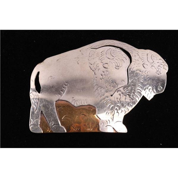 Armand American Horse Alpaca Silver Buffalo Pin