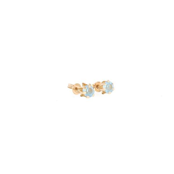 Brilliant Aquamarine & 14k Yellow Gold Earrings