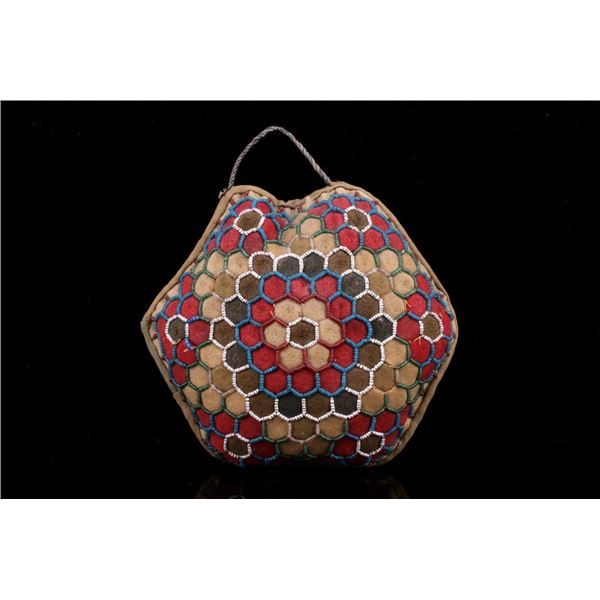 Iroquois Indian Beaded Pin Cushion c. 1950's