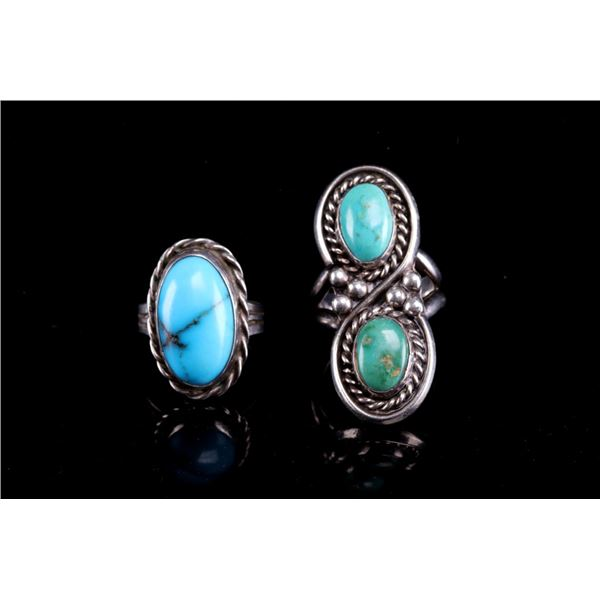 Navajo Royston & Sleeping Beauty Turquoise Rings