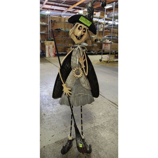 """HALLOWEEN METAL WITCH 36"""" HIGH"""