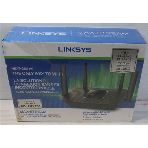 BRAND NEW LINKSYS NEXT-GEN AC2200 MAX STREAM TRI