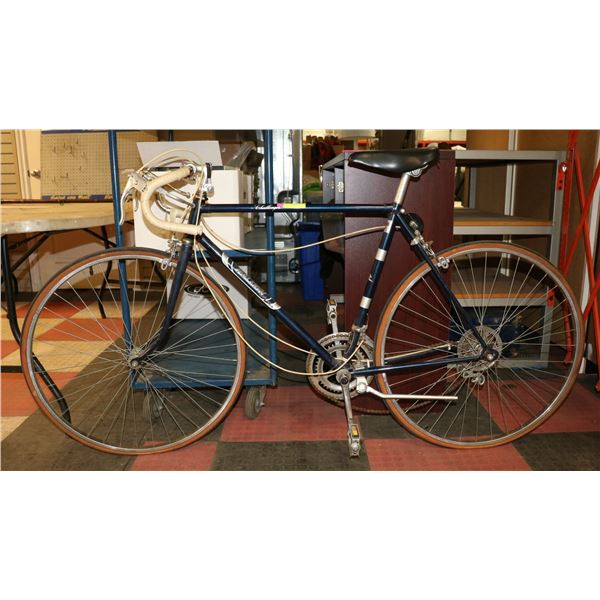 RALEIGH CHALLENGER 10 SPEED BICYCLE NAVY BLUE
