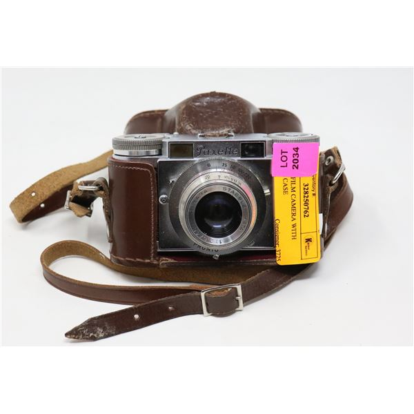 PAXETTE FILM CAMERA WITH LEATHER CASE